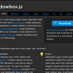 Shadowbox.jsのキャプション位置を画像の下に変えてみる