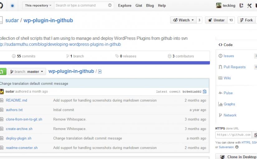 公式リポジトリのWordPressプラグインをGitHubでバージョン管理できる『wp-plugin-in-github』使ってみたよ