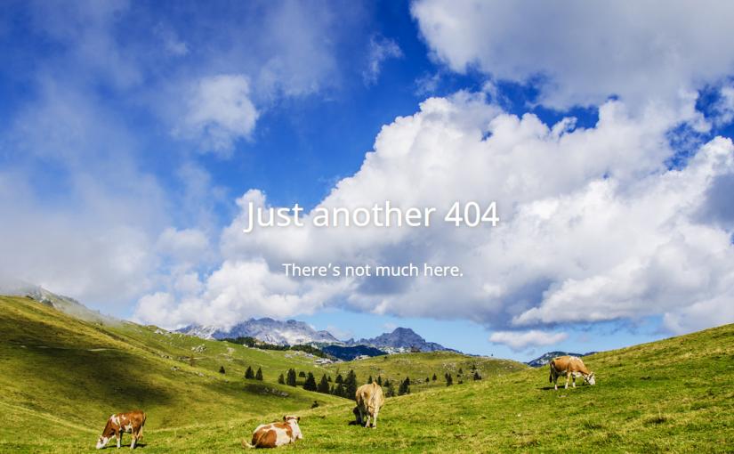 「404 Not found」を返すだけのWordPressテーマをつくったよ