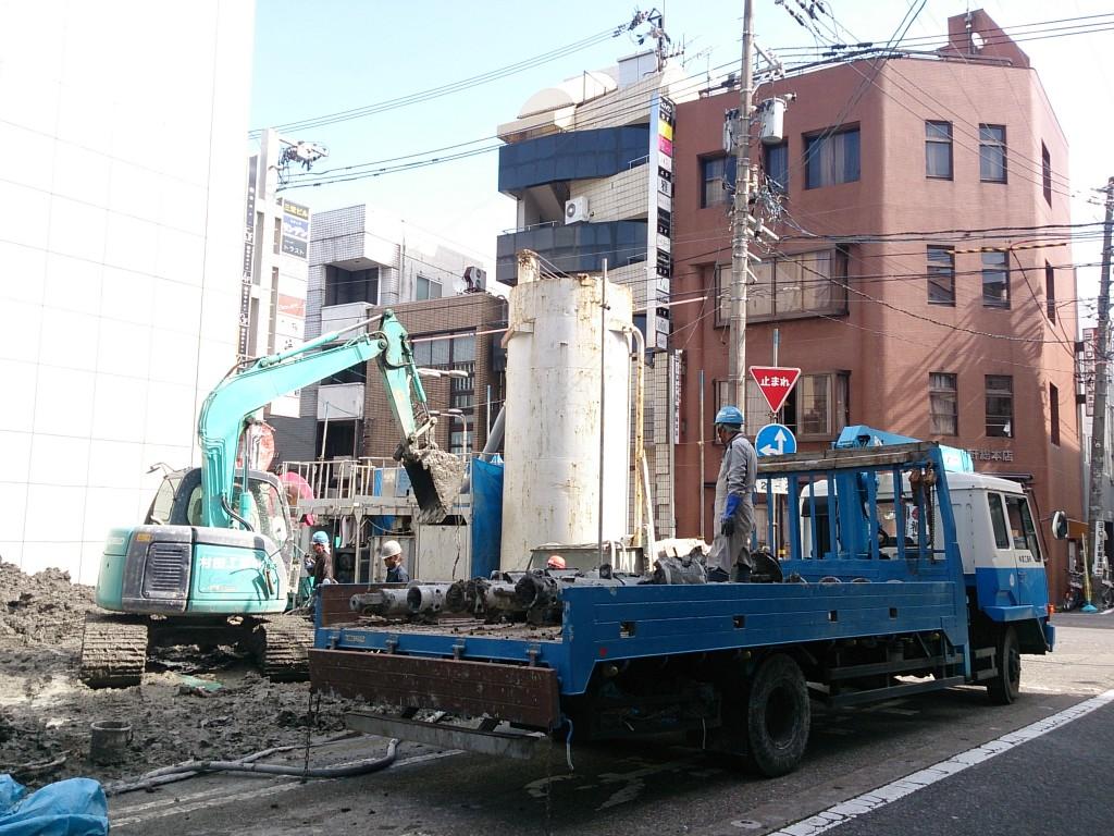 現・福井片町店建設中の様子(2014年10月15日撮影)